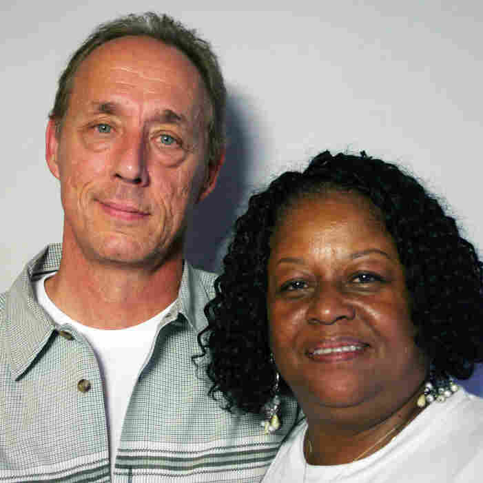 John Klein, 60, and Bernice Flournoy, 60, visited StoryCorps in Oakland, Calif.