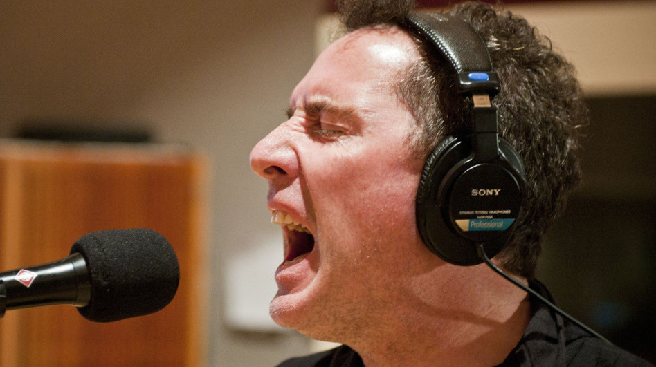 Andy McCluskey, lead singer and bassist of OMD, performing at The Current. (MPR)