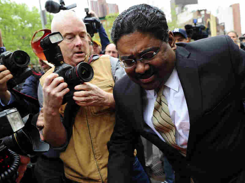 Raj Rajaratnam left court in May after he was convicted of fraud and conspiracy charges in New York.