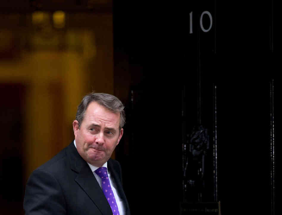 This file picture taken on October 18, 2010, shows British Defense Secretary, Liam Fox, leaving after attending a cabinet meeting at 10 Downing Street.