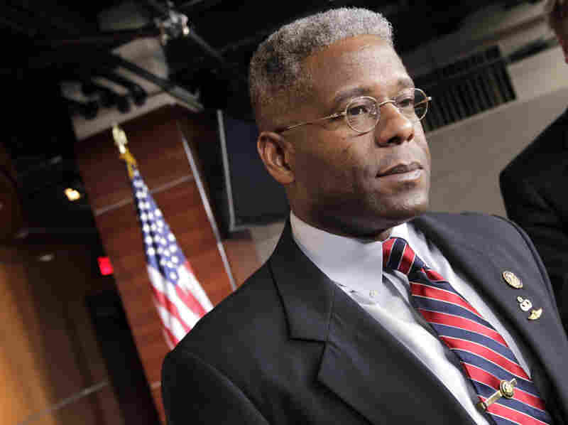 Rep. Allen West, R-Fla., shown in July, has drawn controversy for his comments about Islam. A Muslim activist in South Florida has devoted himself to challenging West's views.