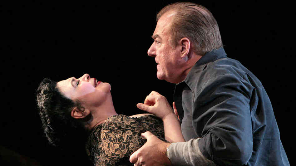 Catherine Malfitano as Beatrice and Kim Josephson as Eddie in William Bolcom's 'A View From The Bridge.'