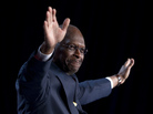 Republican presidential hopeful Herman Cain gestures during a speech at the Values Voter Summit in Washington, D.C., on Oct. 7.