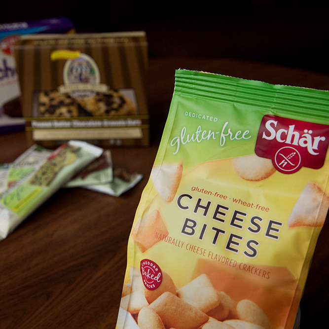 A selection of gluten-free products.