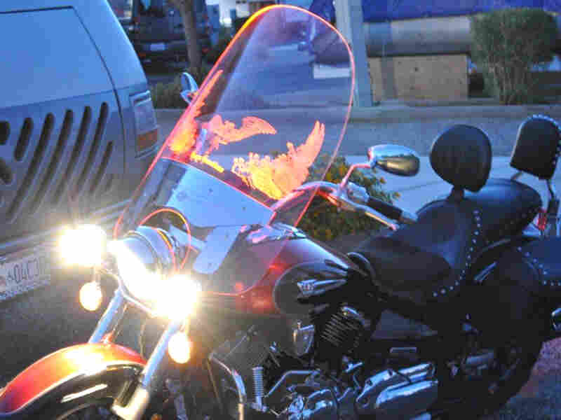 Illumatek makes windshields that are engraved and lit with fiber optics so motorcycles are more visible on the road. Its founder worked with VETransfer, a nonprofit that connects veteran entrepreneurs with funding and business skills.