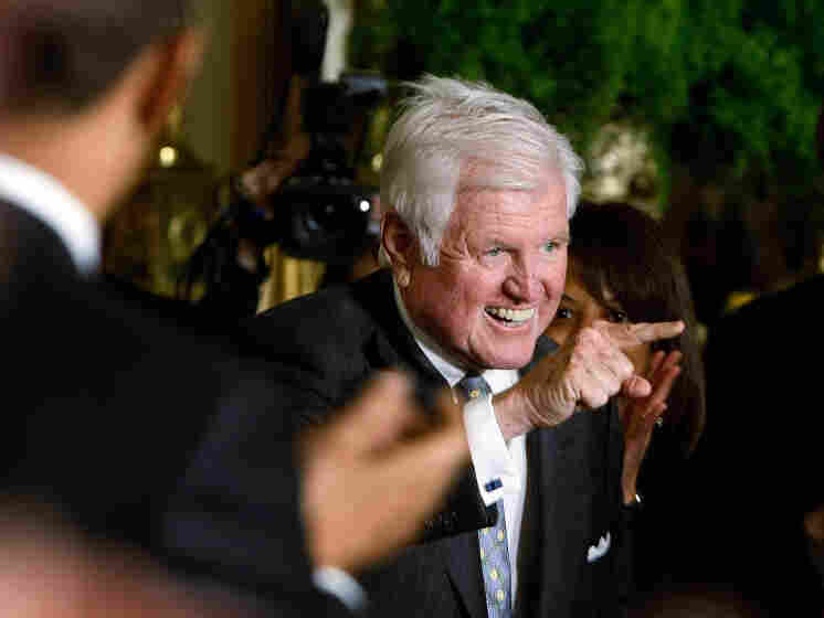 The late Sen. Edward Kennedy, a champion for the CLASS Act, gets a standing ovation as he arrives at the closing session of a White House forum on health care overhaul in early March 2009.