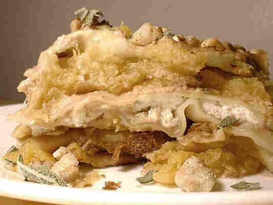 Acorn Squash Lasagna With Black Walnut Cream