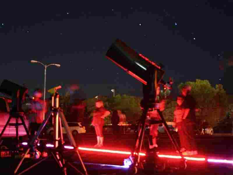 Highly sensitive cameras were set up outside the Yucca Valley Community Center in California recently to capture images from deep space. One of the brightest supernovas in the last century won't be visible to amateur stargazers within the next week.