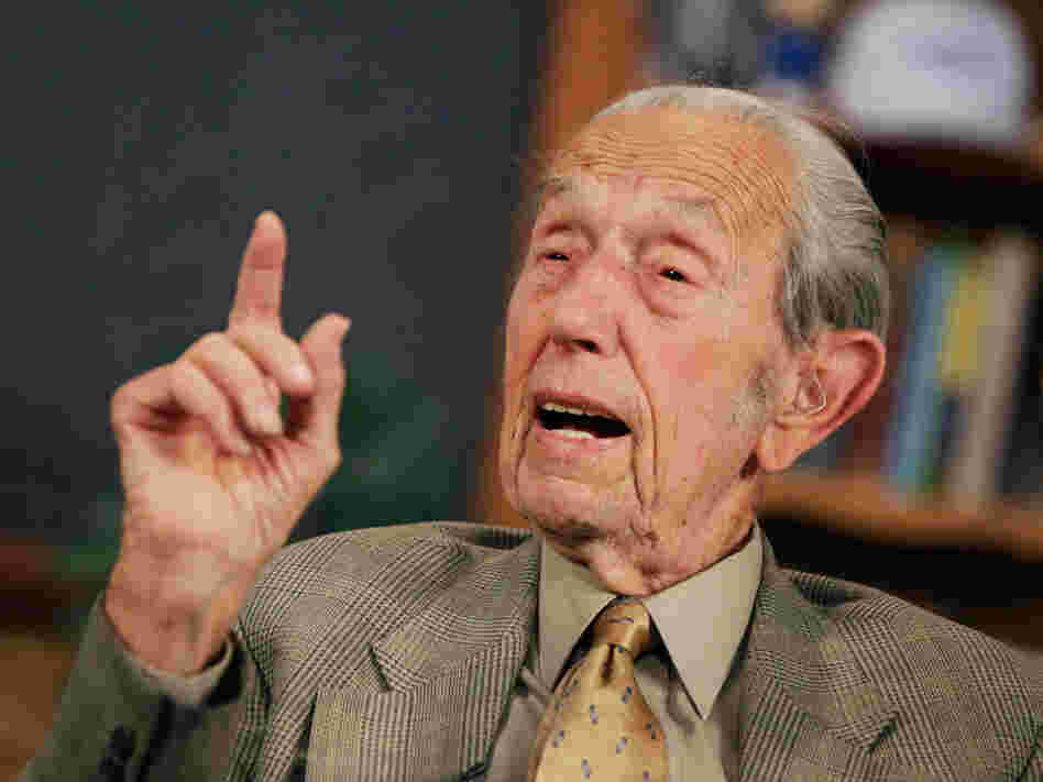 Harold Camping speaks during a May 23, 2011, taping of his radio show Open Forum on the Family Radio Network.