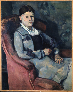 This 1878 Cezanne portrait was the first in Gertrude and Leo Stein's collection. Cezanne has painted his wife's right eye completely black.