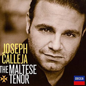 Cover art for Joseph Calleja's new recital album for Decca.