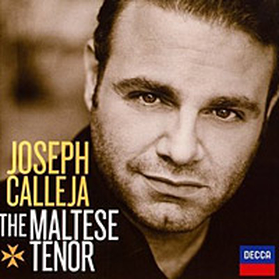 Cover art for Joseph Calleja's new recital album for Decca. (Decca)