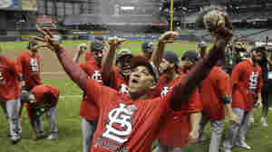 The Cardinals' 12-6 Sunday in Milwaukee set up a St. Louis-Texas matchup in the World Series.