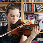 Hilary Hahn performs a Tiny Desk Concert at the NPR Music offices on September 8, 2011.