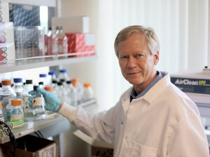 Paul Keim at work in his lab on the Northern Arizona University campus.
