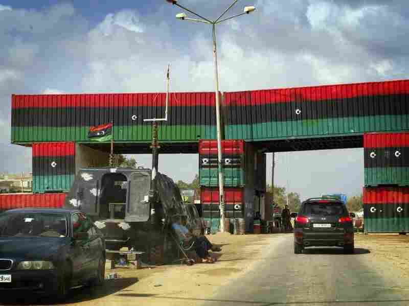 A check point between Misrata and Beni Walid, Libya.