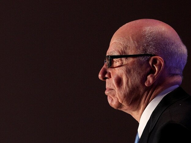 News Corp. CEO Rupert Murdoch pauses as he delivers a keynote address at the National Summit on Education Reform on Oct. 14 in San Francisco.