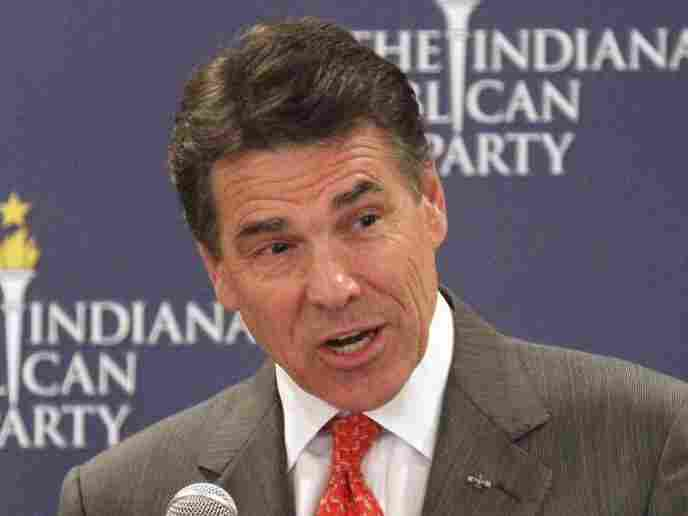 Texas Gov. Rick Perry speaks at GOP forum in Indianapolis on Oct. 12.