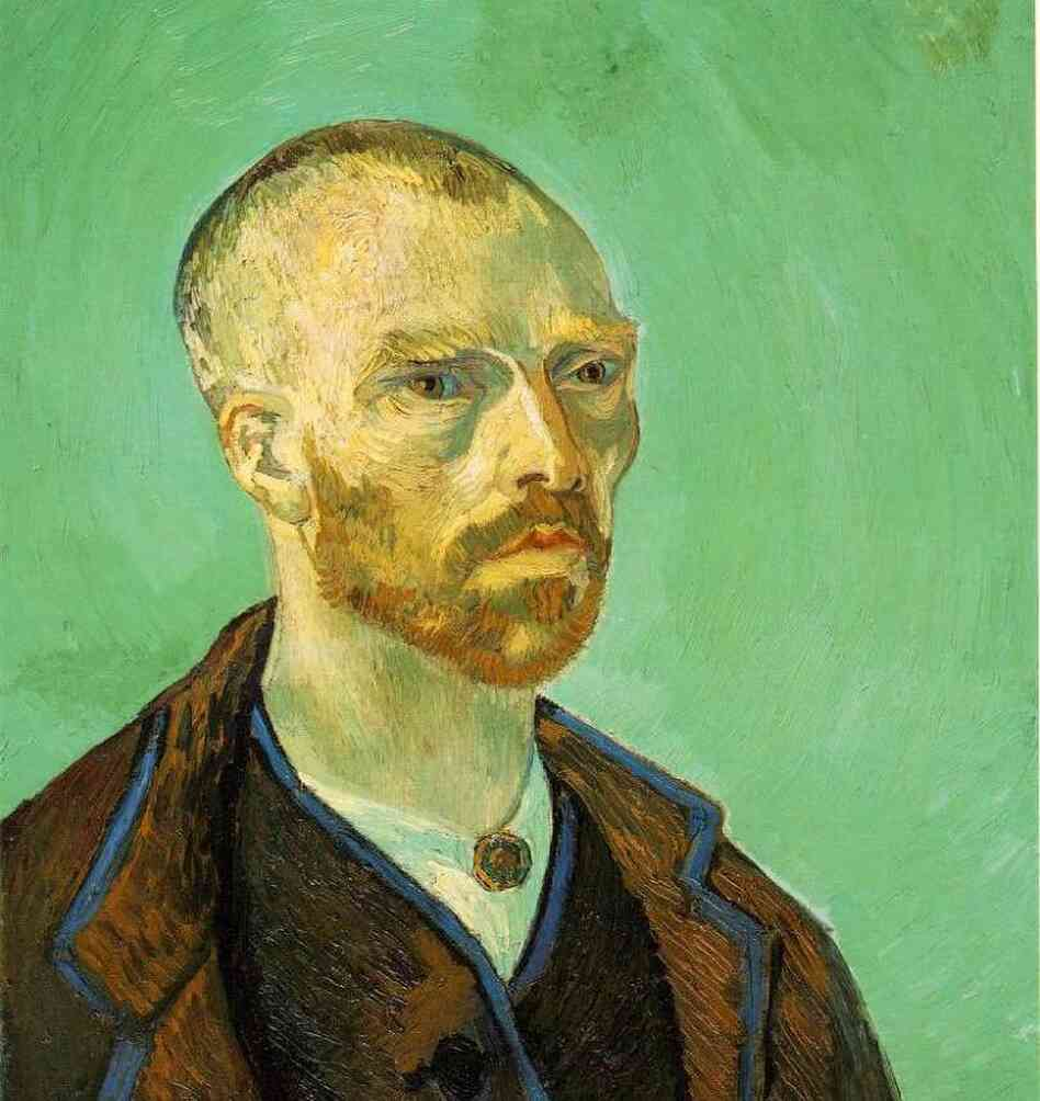 Self-portrait, dedicated to Paul Gauguin (1888).