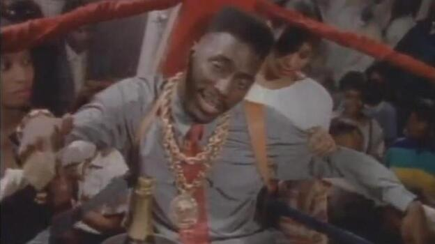 Big Daddy Kane in the ring. In a suit. (Courtesy of Cold Chillin' Records)