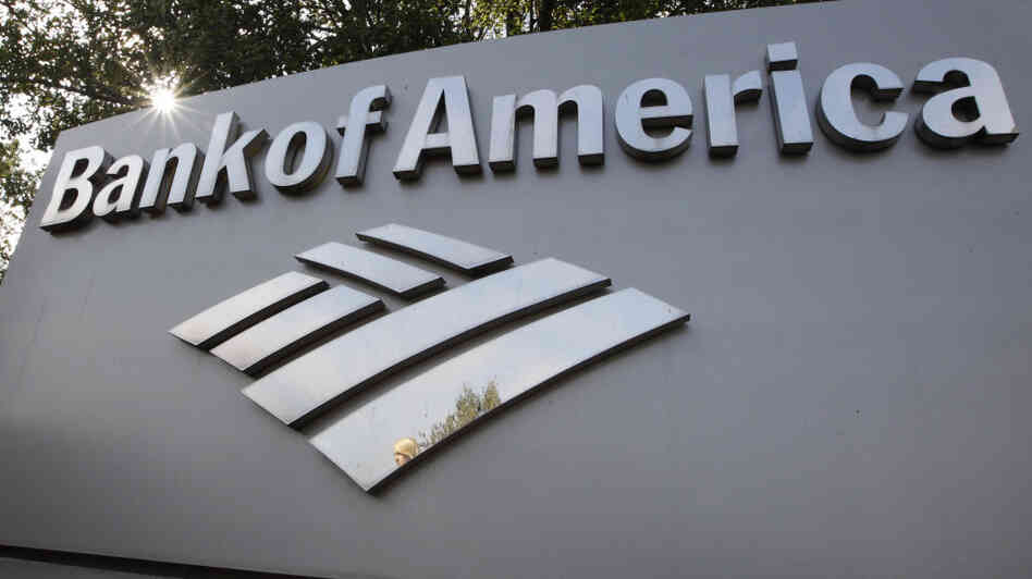 A Bank of America logo outside a branch office in Palo Alt