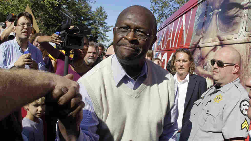 Republican presidential candidate Herman Cain campaigns on Oct. 15 in Cookeville, Tenn.