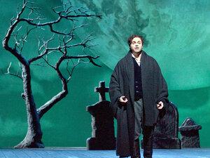 Joseph Calleja as Edgardo in the Metropolitan Opera production of Donizetti's Lucia di Lammermoor.