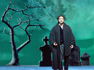 Joseph Calleja as Edgardo in the Metropolitan Opera production of Donizetti's Lucia di Lammermoor.