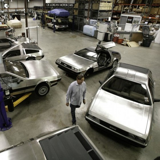Stephen Wynne walks through the shop at the DeLorean Motor Company in Humble, Texas, in 2007. Wynne purchased all remaining factory parts of the DeLorean line -- enough for several hundred cars.