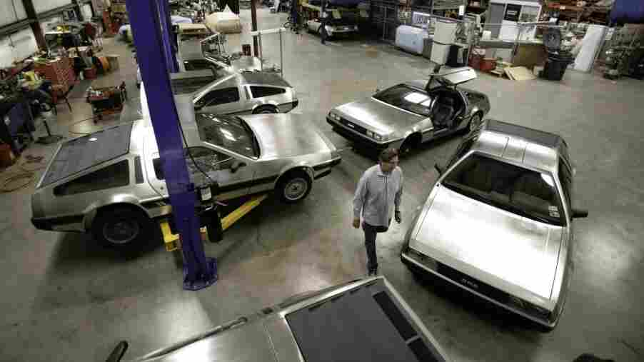 Stephen Wynne walks through the shop at the DeLorean Motor Company in Humble, Texas, in 2007. Wynne purchased all remaining factory parts of the DeLorean line — enough for several hundred cars.