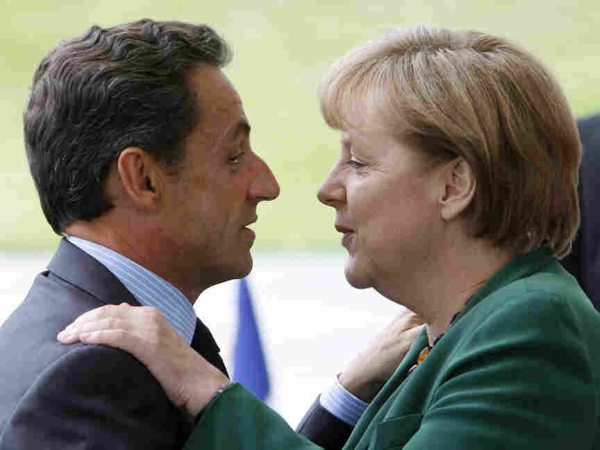 German Chancellor Angela Merkel and French President Nicolas Sarkozy