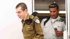 An Israeli Defense Forces photo of Sgt. Gilad Shalit an unknown location today in Israel, following his release.