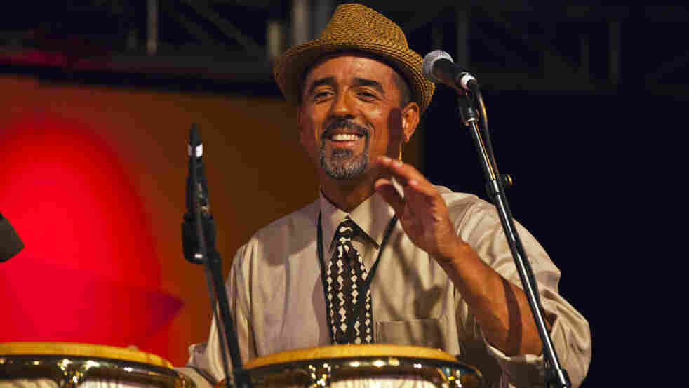 John Santos at the Monterey Jazz Festival.