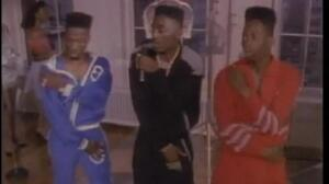Big Daddy Kane dancing with Scoob and Scrap.
