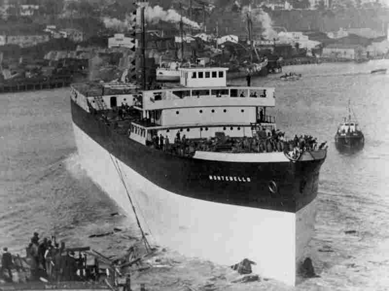 The SS Montebello, shown in its glory days, was torpedoed by a Japanese submarine during World War II.