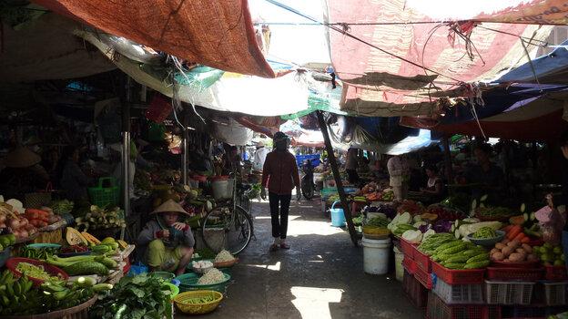An open market in Vietnam.