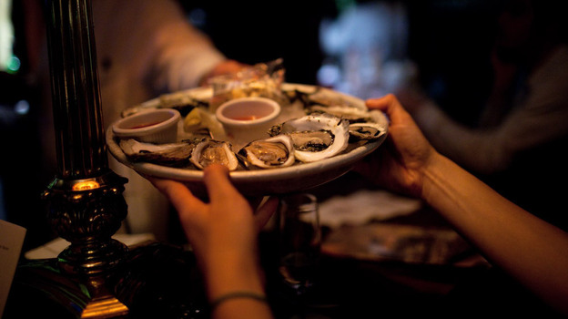 Late night oysters may be discounted, but they're usually no less fresh than oysters served at any other hour. (NPR)