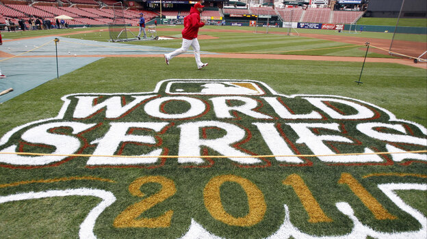 Tuesday: St. Louis Cardinals' Albert Pujols runs during practice for Game 1 of baseball's World Series against the Texas Rangers in St. Louis.