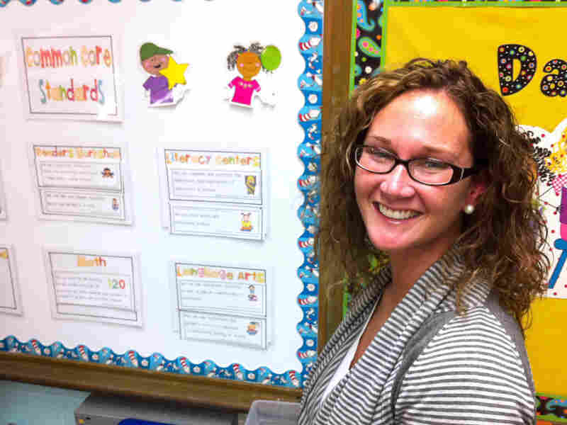 Janna Beth Hunt, a first-grade teacher at Nashville's Norman Binkley Elementary, is disappointed with how she scored on her first observation under the new system.