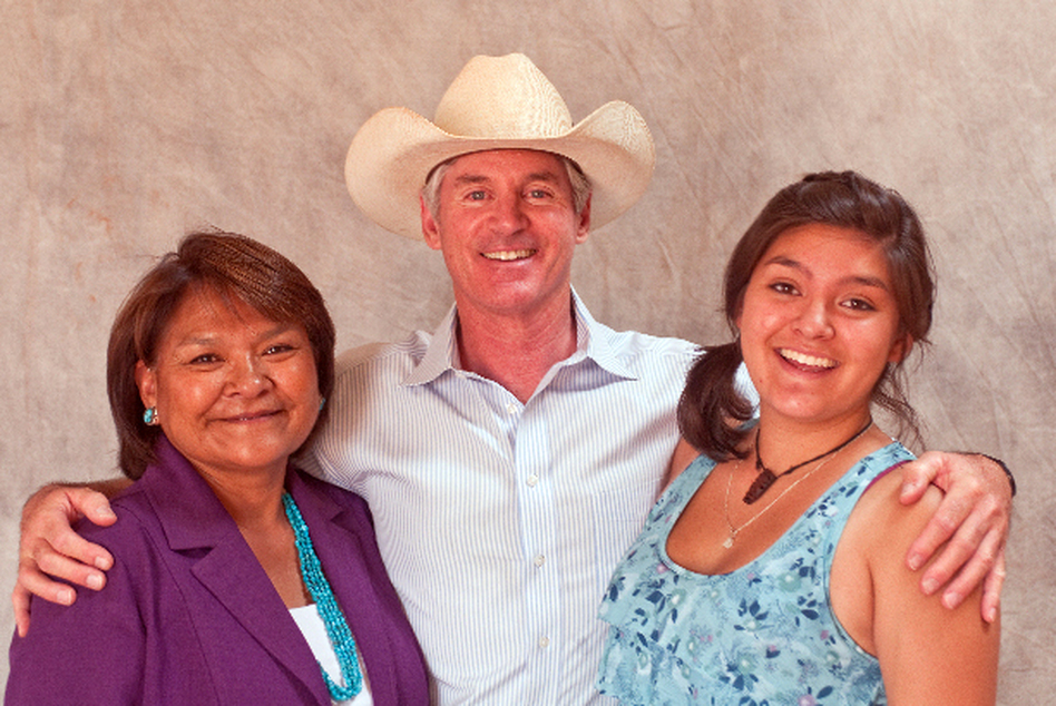 "<p>George Hardeen is shown with his wife, Lena Fowler, and one of his three children, Shonie Fowler Hardeen. ""The Houdini legacy has taken a new branch,"" says Hardeen, ""because my wife is Navajo, and my children are enrolled members of the Navajo Nation."" </p>"