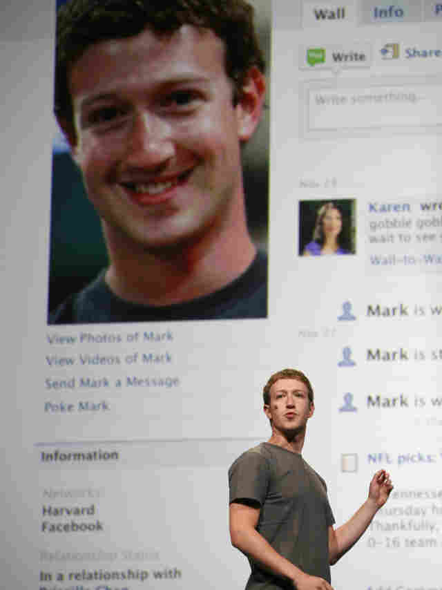 If a high number of Facebook friends gives you a bigger brain, then CEO Mark Zuckerberg, seen here in Sept., must have one massive cortex.