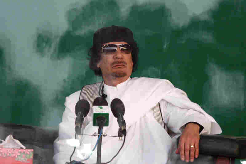 2010: Gadhafi delivers a speech behind bulletproof glass in Benghazi, Libya, in 2010, calling for a jihad against Switzerland because of its ban on mosque minarets.