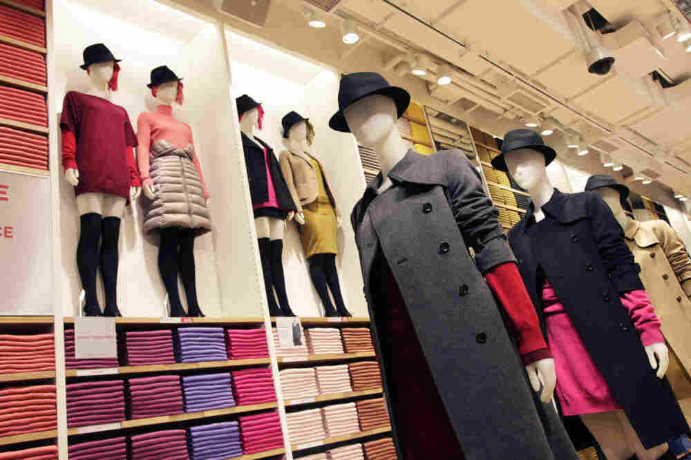 The mannequins are fashionably dressed at Uniqlo's new Fifth Avenue flagship store in New York. Uniqlo's U.S. chief says he would eventually like to have 1,600 stores in the country, almost twice the number in Japan.