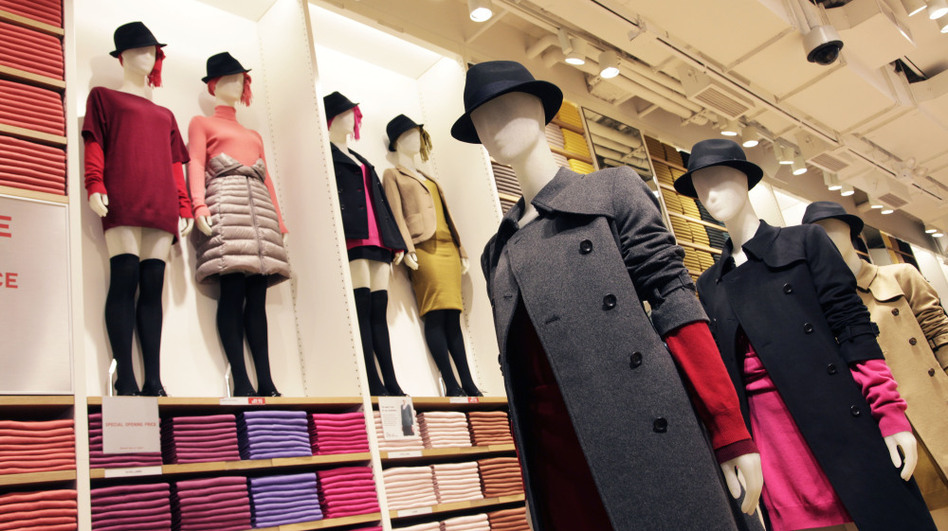 The mannequins are fashionably dressed at Uniqlo's new Fifth Avenue flagship store in New York. Uniqlo's U.S. chief says he would eventually like to have 1,600 stores in the country, almost twice the number in Japan. (AP)