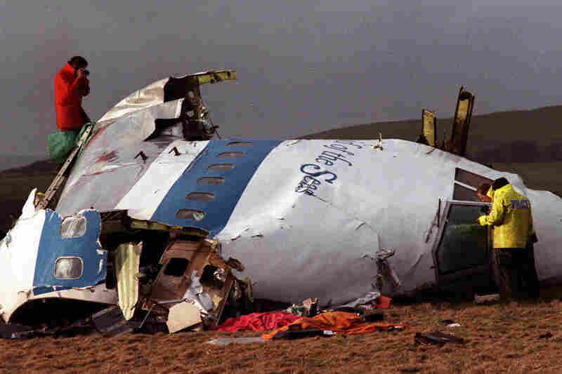 1988: Investigators sift through the wreckage of Pan Am Flight 103, which exploded midair over Lockerbie, Scotland. The 270 dead included everyone on the plane and 11 on the ground. Libya did not officially take responsibility for the bombing until 2003.