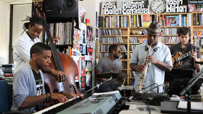 Ben Williams and Sound Effect perform a Tiny Desk Concert at the NPR Music offices.