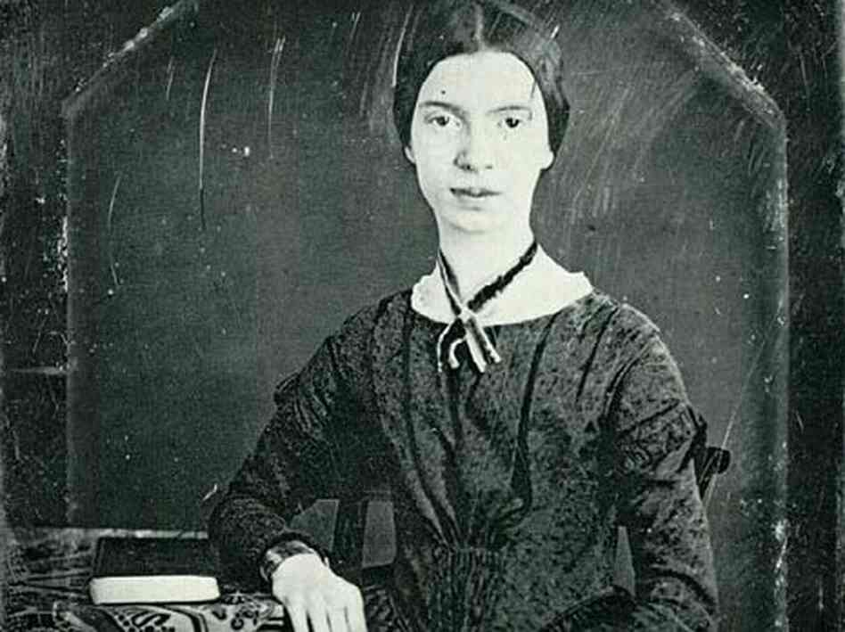 A daguerreotype of Emily Dickinson, taken in 1846.