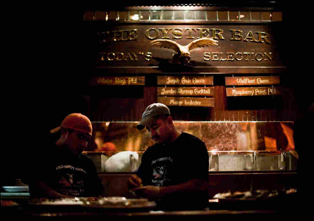 Old Ebbitt Grill serves oysters from five to six different locales at any given time.