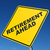 A road sign reads: retirement ahead.