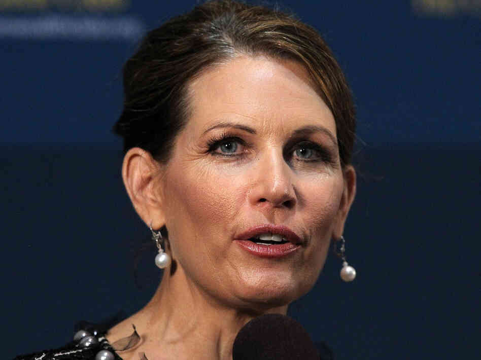 Minnesota Rep. Michele Bachmann spoke at the Commonwealth Club of California on Thursday in San Francisco.